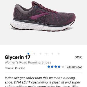 Brooks Glycerin 17 size 10